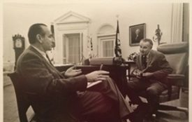 Charles Zwick with President Johnson