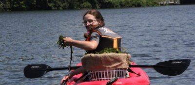 Lindsey kayaking in Long Island Sound